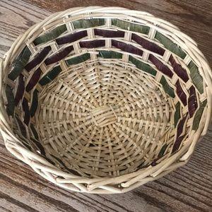 Large basket boho vintage storage display